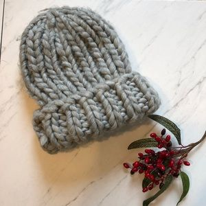 Gray Knit Short/ Long Adjustable Beanie Hat- O/S